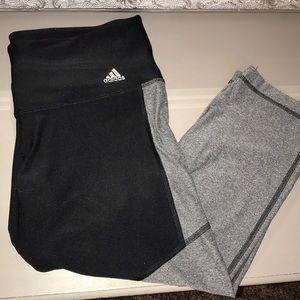 Adidas climalite leggings. Calf length